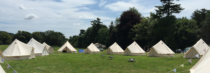 Hire bell tents in Dorset with Dorset Country Weddings