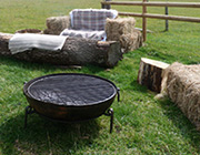 Utilise our fire pits and camp fires located in our bell tent village